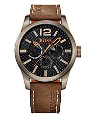 BOSS Orange Paris Leather Strap Watch