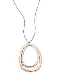 Fiorelli Two-Tone Oval Pendant
