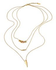 Fiorelli Triple Layered Necklace