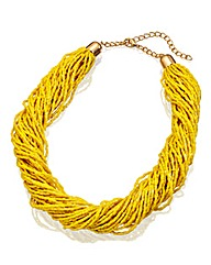 Twisted Multi-Strand Bead Necklace