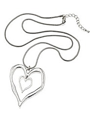 Long Double Heart Necklace