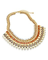 Gold Effect Statement Necklace