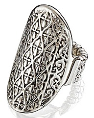 Oval Stretch Statement Ring