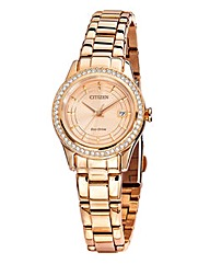 Citizen Eco-Drive Ladies Rose-tone Brace