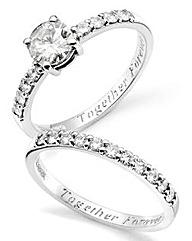 9 Carat Gold Personalised Ring Set