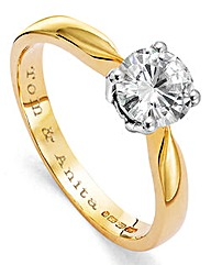 Moissanite Personalised 1 Carat Ring