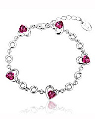 Spangles Heart Crystal Bracelet