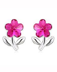 Spangles Crystal Flower Earrings