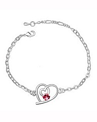 Spangles Crystal Heart Bracelet
