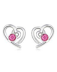 Spangles Crystal Heart Earrings