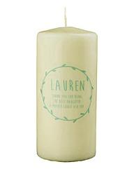 Personalised Laurel Garland Candle