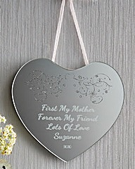 Personalised Hanging Heart Mirror