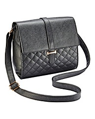 Quilted Detail Cross Body Handbag