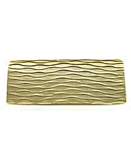 Satin Wave Clutch Evening Bag