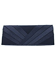 Pleated Front Clutch Evening Bag
