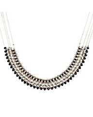 Mood Beaded Diamante Statement Necklace