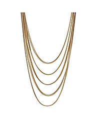 Mood Flat Snake Chain Necklace