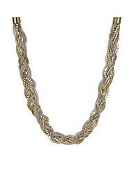 Mood Two Tone Mix Metal Plait Necklace
