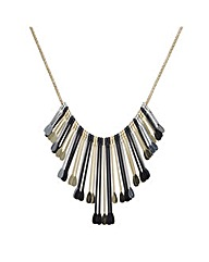 Mood Mix Metal Paddle Necklace