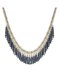 Mood Statement Beaded Fringe Necklace