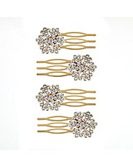 Mood Crystal Mini Hair Combs