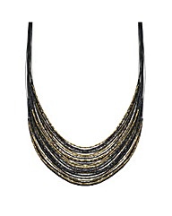 Mood Jet Gold Beaded Necklace