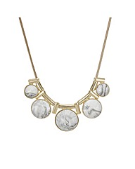 Mood Marbleized Dome Necklace
