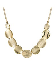 Mood Textured Gold Disc Necklace