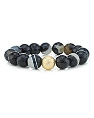 Mood Marbleized Bead Stretch Bracelet