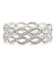 Mood Open Lattice Stretch Bangle