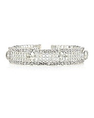 Mood Diamante Stretch Cuff Bracelet