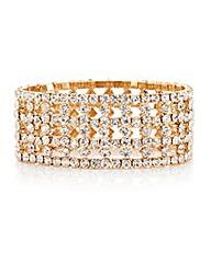 Mood Diamante Stretch Bracelet