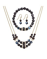 Mood Black Volcano Bead Set