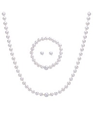 Mood Three Piece Crystal Pearl Set