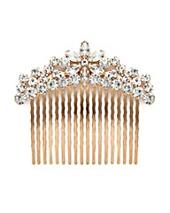 Mood Floral Diamante Hair Comb