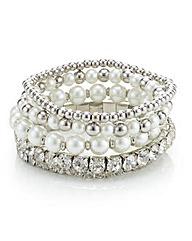 Mood Cupchain Pearl Stretch Bracelet Set