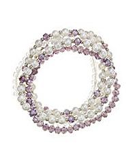 Mood Pearl And Bead Bracelets Set