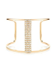 Mood Crystal Section Open Cuff Bracelet