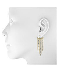 Mood Diamante Gold Strand Earring