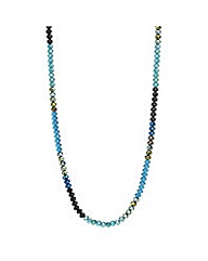 Mood Tonal Beaded Long Rope Necklace