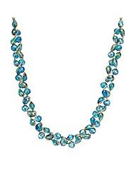 Mood Green Tonal Bead Twist Necklace
