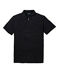 Southbay Unisex Black Zip Neck Polo