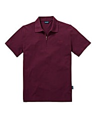 Southbay Unisex Plum Zip Neck Polo