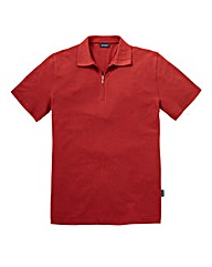 Southbay Unisex Orange Zip Neck Polo