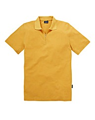 Southbay Unisex Gold Zip Neck Polo