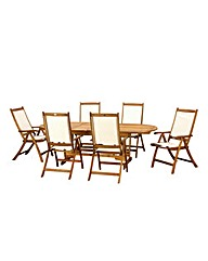 Edinburgh 7pc Highback Dining Set