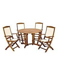Henley 5pc Highback Gateleg Dining Set