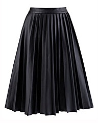 PU Pleat Midi Skirt