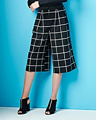 Simply Be Wide Leg Culottes -Black Check