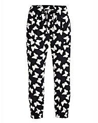 Cropped Butterfly Print Harem Trousers